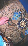 Chéticamp -Fabrication d'un tapis houqué. Art traditionnel.