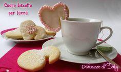 Cuore biscotto per tazza