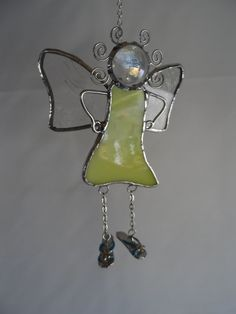 Stained Glass Fairy wearing Flip Flops Hanger, at Jitter Beans Mineral Wells, Texas