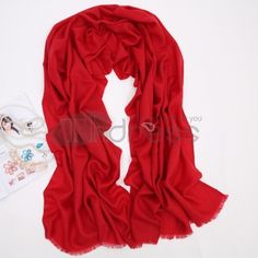 Wool Scarves-Wool twill solid color long scarf