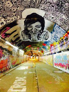 London - Leake Street Tunnel #InspireArt - #Art #LoveArt http://wp.me/p6qjkV-9jC