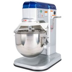Ideal for use in delis and small bakeries, this Vollrath 40755 7 qt. commercial mixer is compact enough to fit on any countertop, yet robust enough to stand up to continuous use! With a powerful 1/3 hp motor and five mixing speeds, this mixer handles each job with ease and allows you to cater to the needs of every individual batch, no matter what you're baking. The Vollrath 40755 7 qt. commercial mixer also features a digital control panel for easy speed shifting during operation, an...