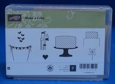 Stampin' Up! Make a Cake Birthday Wedding Set of 7 Stamps NIB #StampinUp