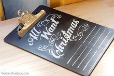 chalkboard wish list tutorial and free printable