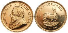 SUD AFRICA – Krugerrand oro  ( oncia oro sud africana ).D/Busto di Paul Kruger a s. - R/Springbok - valore e data . Peso 33,9305 - titolo 917 millesimi - diametro 32,70 mm - bordo rigato.