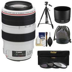 Canon EF 70-300mm f/4-5.6 L IS USM Zoom Lens   3 UV/ND8/CPL Filters   Tripod Kit for EOS 6D, 70D, 5D Mark II III, Rebel T3, T3i, T4i, T5, T5i, SL1 DSLR Cameras >>> Visit the image link more details.