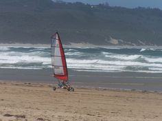 Blokarting on the beach in South Africa