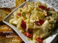TARKA SAVANYÚKÁPOSZTA-SALÁTA Potato Salad, Cauliflower, Cabbage, Potatoes, Vegetables, Ethnic Recipes, Food, Cauliflowers, Potato