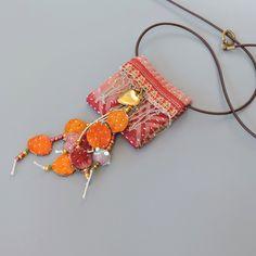 Upcycled heart necklace,  Heart jewelry, Ecofriendly Jewelry, Vintage Hindu textile necklace, OOAK door ATLIART op Etsy https://www.etsy.com/nl/listing/225033264/upcycled-heart-necklace-heart-jewelry
