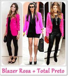 blazer rosa preto - Pesquisa Google