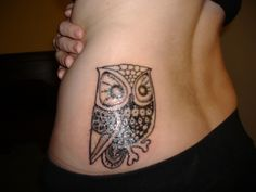 vintage owl tattoo