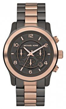 Michael Kors Mk8189. Matte Black. Rose Gold. Very Chic.