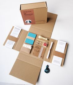Brand Packaging, Box Packaging, Packaging Design, Branding Design, Craft Box, Craft Kits, Diy Kits, Creative Gift Baskets, Creative Box