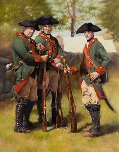 "Timothy Jahn ""Field Jager Corps of Hesse-Cassel"" American Revolutionary War, American Civil War, Early American, American History, Military Art, Military History, Military Uniforms, Army Uniform, Seven Years' War"