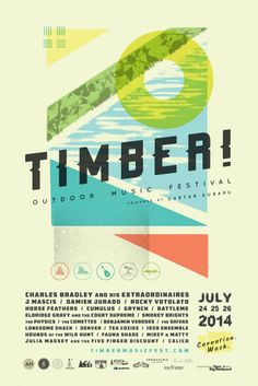 {Timber! Outdoor Music Festival poster}