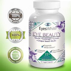 Eyes White - Eye Whitening - Eye Beauty, Whiten Sclera, White Eyes, Selenium, Lutein, Rutin, Bilberry, Eyebright, Grape Seed Extract, Zeaxanthin, Lycopene, Vision Support, Thera Tears, Eye Supplement. for only $4.40! That's 80% off the regular price. Deal expires 10 days ago