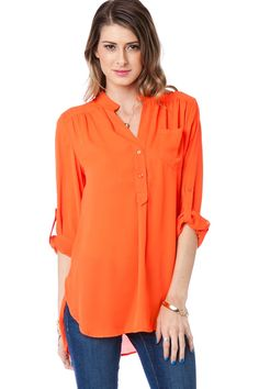 ShopSosie Style : Pure Colora Blouse in Sunkist