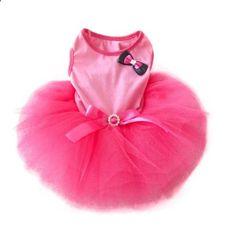Urparcel Pet Cat Princess Tutu Dress Bow Bubble Skirt Puppy Clothes Dog Dress Apparel Pink  Small. More descripiton on the website.