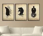 silhouette superhero art... might try and recreate this for Alan. Superman, Cap America, and FInn (adventure time) :)
