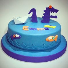 Birthday Cake, 1st Year, Cata, Desserts, Food, Ideas, Happy Brithday, Monsters, Sons