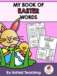 FREE My Book of Easter Words >> Fun activity to teach Easter vocabulary and handwriting.        Repinned by Chesapeake College Adult Ed. We offer free classes on the Eastern Shore of MD to help you earn your GED - H.S. Diploma or Learn English (ESL).  www.Chesapeake.edu