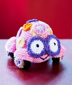 Love Bug Amigurumi free crochet pattern at Red Heart, designed by Michele Wilcox