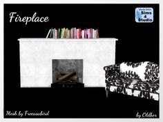 Fireplace by Oldbox at All 4 Sims • Sims 4 Updates