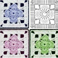 Granny Squared - Chart ❥ 4U hilariafina  http://www.pinterest.com/hilariafina/