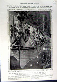 """The chivalry of the sea: """"women and children frist"""" after the Titanic disater"""
