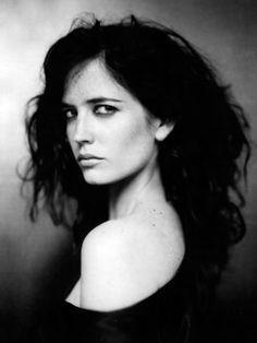 eva green, black and white, and actress image