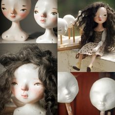 Vonrwalun Varisphuthimes: OOAK Cloth and Clay dolls Paper Clay Art, Biscuit, Homemade Clay, Doll Making Tutorials, Paper Mache Sculpture, How To Make Clay, Teddy Toys, Polymer Clay Dolls, Doll Wigs