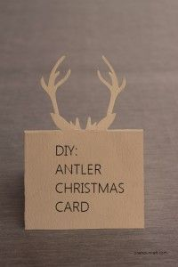 How To:  Antler Christmas Card (+ Template) « One Hour Craft