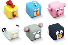 Cubed Animals Iconset (7 icons) | Archigraphs