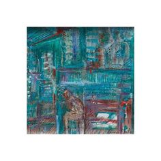 NOVICA Abstract Expressionist Painting (3.762.355 IDR) ❤ liked on Polyvore featuring home, home decor, wall art, expressionist paintings, paintings, abstract painting, spanish paintings, novica home decor, inspirational wall art and blue wall art
