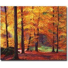 Trademark Art Autumn Serenity Canvas Wall Art by David Lloyd Glover, Size: 35 x 47, Multicolor
