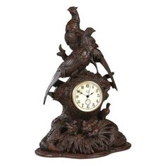 Pheasant Desktop Clock - 0535-F-BW, Durable