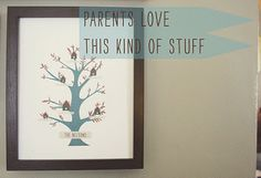 Free family tree download- fill in your info. cute!
