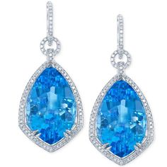 @nohemee_berhane. #jewelry #blue #topaz #diamonds #earrings #luxury #sparkle