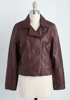 Straight Scooter Jacket. Lets be honest - you look chic beyond belief while cruising on your moped in this faux-leather jacket from Jack by BB Dakota! #purple #modcloth