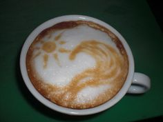 Sun and Waves Coffee Art Design // Creative 3D Coffee Latte Art Pictures, Images & Designs