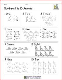 pre k number worksheets to 10 animals bw Pre K Worksheets, Printable Math Worksheets, Number Worksheets, Kindergarten Age, Kindergarten Math Worksheets, Math Resources, Numbers Preschool, Free Math, Math Games