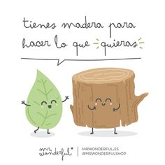 Tienes madera para hacer lo que quieras Mr Wonderful