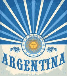 Argentina vintage card - poster vector illustration, argentina flag colors, grunge effects can be easily removed Illustration , Argentina Culture, Argentina Flag, Argentina Travel, Tango, Art Deco Logo, World 2020, Art Deco Posters, Vintage Travel Posters, South America