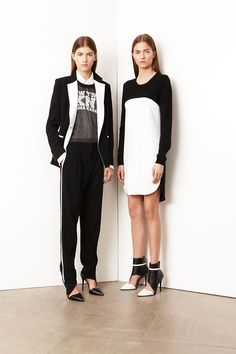 Two must-have looks if you're going to partake in next season's luxe sportswear trend. Amazing shoes! @Deena Q. Korman #PreSummer2014.