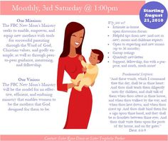 New Moms Ministry - First Baptist Church of Sterling| Bishop Leslie Patterson  Co-Pastor Dr. Francene Patterson