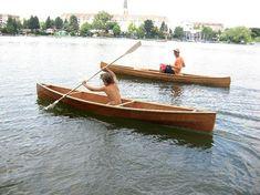 Single sheet plywood canoe