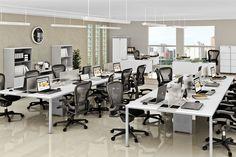 Plataforma Pratique. Design moderno e sofisticado, excelente para transformar seu local de trabalho em um espaço multifuncional e contemporâneo. (Escritório)