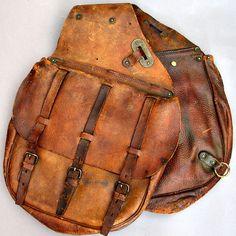saddle bag,leather,straps