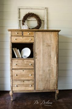 Raw Wood Furniture Makeover