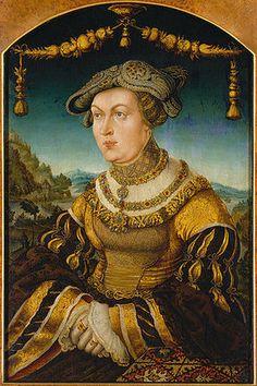 Portrait de Maria Jacobaea von Baden, duchesse de Bayern, par Hans Schwab von Wertinger